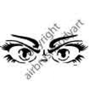 0247 eyes reusable stencil